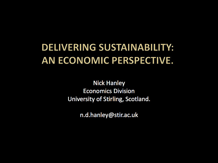 HANLEY_BES- Sustainable development
