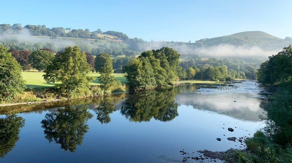 Welsh river landscape